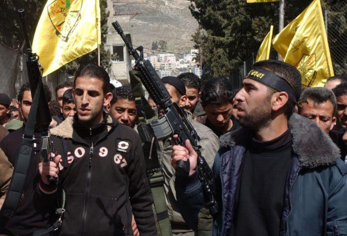 Bewaffnete der al-Aqsa-Märtyrerbrigaden der Fatah. Foto Flash90/Wagdi Ashtiyeh