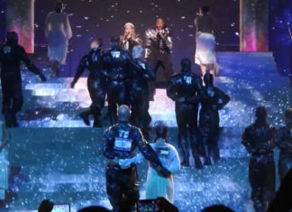 "Madonna und Quavo singen ""Future"" beim Eurovision Song Contest. Foto YouTube Screenshot"