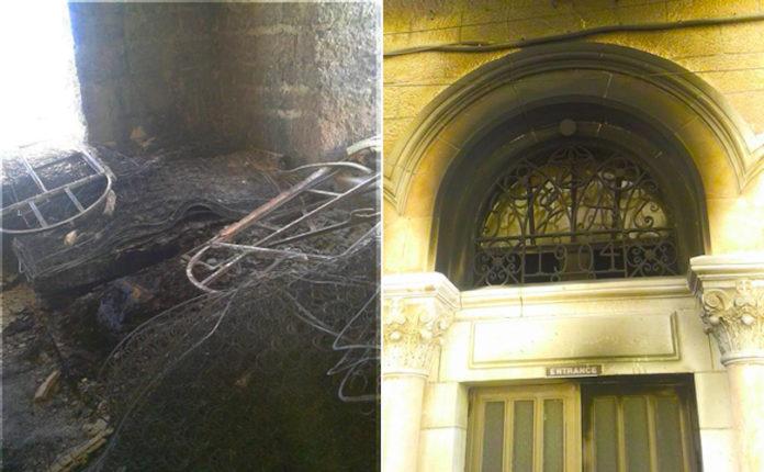 Bereits am 26. September 2018 wurde in Bethlehem ein Brandanschlag auf das maronitische Kloster St. Charbel verübt. Foto Abouna