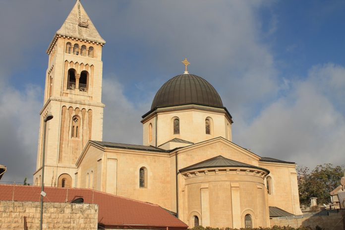 Die evangelische Erlöserkirche in Jerusalem. Foto Gabrielw.tour, CC BY-SA 3.0, https://commons.wikimedia.org/w/index.php?curid=36347817