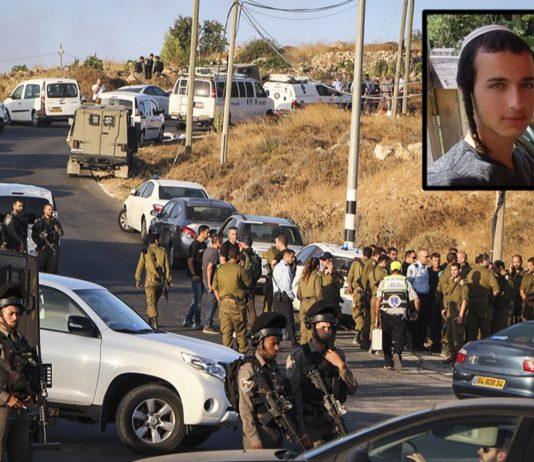 Israelische Sicherheitskräfte an der Stelle, an der am 8. August 2019 die Leiche von Dvir Sorek gefunden wurde. Foto Gershon Elinson/Flash90