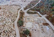 Fundort der Kirche in Ramat Beit Shemesh im Oktober 2019. Foto Asaf Peretz, Israel Antiquitätenbehörde