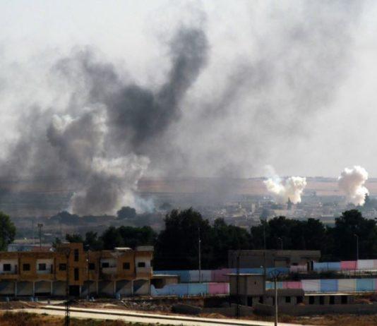 Bombardierung von Tel Abyad. Foto Orhan Erkılıç / PD