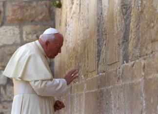 Papst Johannes Paul II besuchte Jahr 2000 Jerusalem. Foto GPO