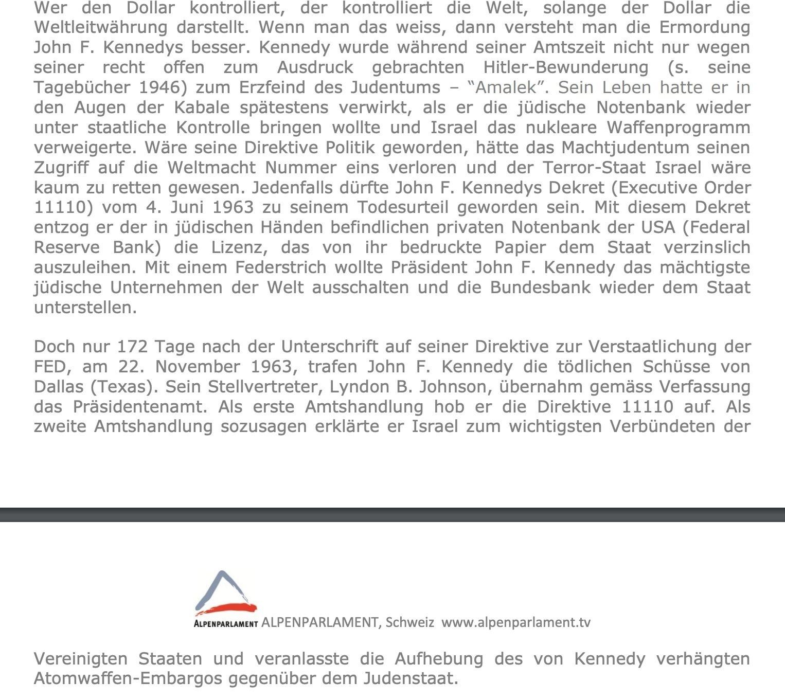 """Ausschnitt aus dem Dokument """"Weltregierung 21. Jahrhundert"""". Foto Screenshot von www.alpenparlament.com"""