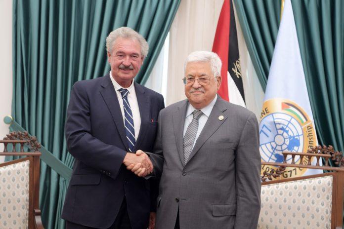 Treffen des luxemburgischen Aussenministers Jean Asselborn mit Palästinenserpräsident Mahmoud Abbas in Ramallah am 11. September 2019. Foto الرئيس محمود عباس