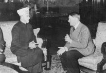 Amin al-Husseini und Adolf Hitler (28. November 1941). Foto Bundesarchiv, Bild 146-1987-004-09A / Heinrich Hoffmann / CC-BY-SA 3.0, CC BY-SA 3.0 de, https://commons.wikimedia.org/w/index.php?curid=5483348
