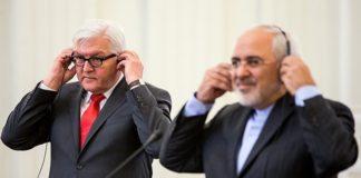 Mohammad Javad Zarif und Frank-Walter Steinmeier im Februar 2016 in Teheran. Foto Tasnim News Agency, CC BY 4.0, https://commons.wikimedia.org/w/index.php?curid=51414266