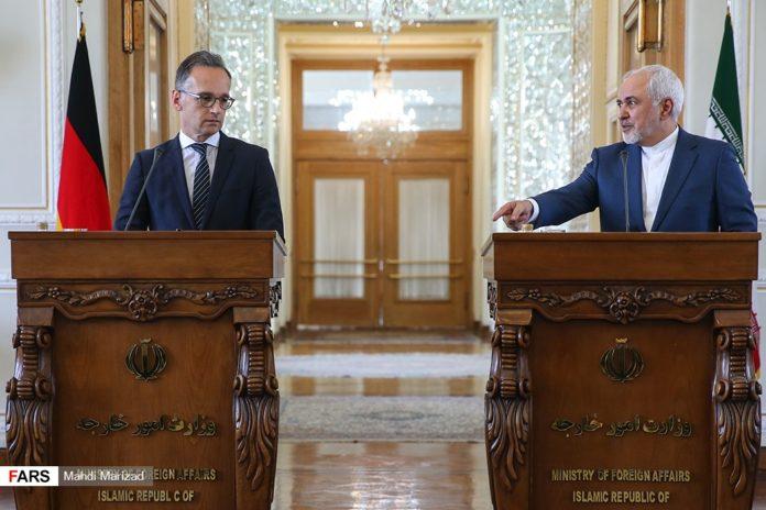 Bei einem Besuch in Teheran traf der deutsche Bundesaussenminister Heiko Maas den iranischen Aussenmisnister Mohammad Javad Zarif. Foto Fars News Agency, CC BY 4.0, https://commons.wikimedia.org/w/index.php?curid=79672307