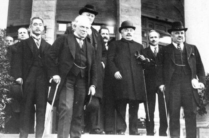 Delegierte der Konferenz von San Remo am 25. April 1920. Foto PD