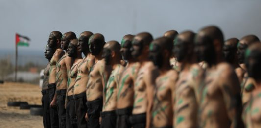 Hamas Ausbildungscamp in Khan Yunis im südlichen Gaza-Streifen am 6. Februar 2020. Foto Majdi Fathi/TPS