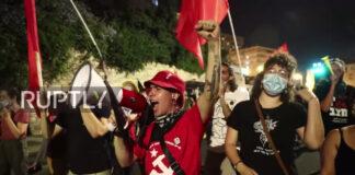 Proteste in Jerusalem am 17. Juli 2020. Foto Screenshot Ruptly / Youtube