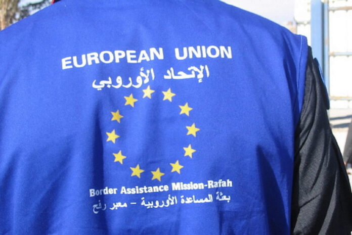 Ein Beobachter der EUBAM am Grenzübergang Rafah am 1. Januar 2006. Foto Patrick Child/EU