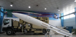 Iranische Sayyad-2-SD2M Boden-Luft-Rakete. Foto DEFANEWS - http://www.defanews.ir, CC BY 4.0, https://commons.wikimedia.org/w/index.php?curid=81660633