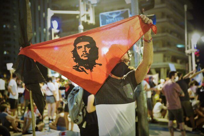 Protest gegen Premierminister Benjamin Netanjahu. Foto Yehonatan Veltzer/TPS