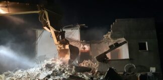 Am 6. Februar 2020 zerstören israelische Truppen das Haus eines palästinensischen Terroristen in der Stadt Dschenin im Westjordanland. Foto Israelische Verteidigungskräfte IDF.