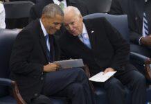Der ehemalige Präsident der Vereinigten Staaten Barack H. Obama und der ehemalige Vizepräsident Joe R. Biden während der Amtseinführung von Präsident Donald Trump im U.S. Capitol Building, Washington, D.C. am 20. Januar 2017. Foto Lance Cpl. Cristian Ricardo - https://www.dvidshub.net/image/3117249/58th-presidential-inaugural-ceremony, Public Domain, https://commons.wikimedia.org/w/index.php?curid=56081757