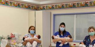 Fünf Zwillingspaare, die im Juli 2020 am selben Tag im gleichen Spital in Jerusalem geboren wurden. Foto Shaare Zedek Medical Center