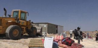 Abriss von illegalen Gebäuden in Judäa und Samaria die durch die EU finanziert wurden. Foto Screenshot Youtube / thesered