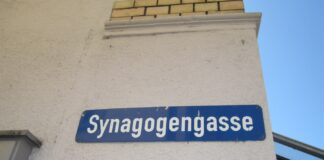 Die Synagogengasse in Lörrach. Foto Gryffindor, CC BY-SA 3.0, https://commons.wikimedia.org/w/index.php?curid=7695318