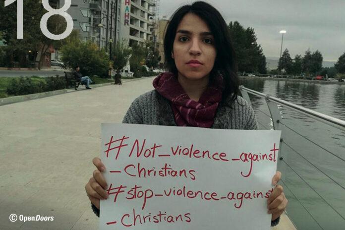 Iran: die christliche Aktivistin Fatemeh (Mary) Mohammadi wurde wegen ihrer öffentlichen Proteste inhaftiert. Ihr droht außerdem die Auspeitschung. Foto Open Doors.