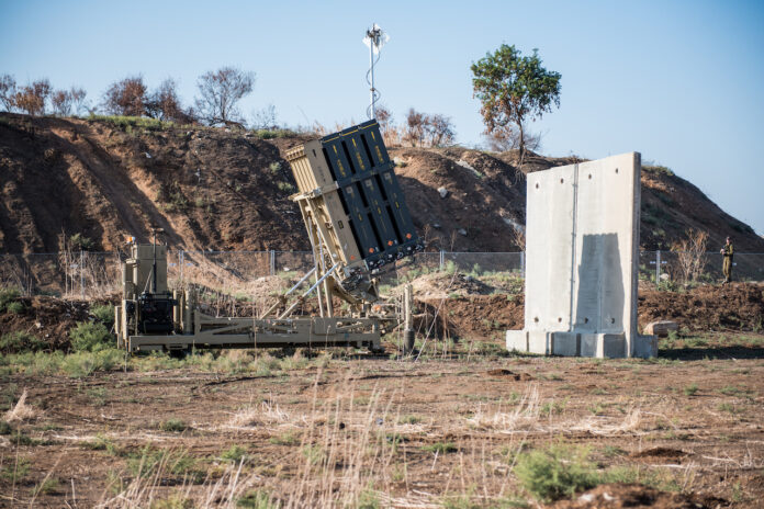Iron-Dome, das von Rafael Advanced Defense Systems und Israel Aircraft Industries entwickelte Abwehrsystem gegen Kurzstreckenraketen. Foto Kobi Richter/TPS