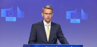 Peter Stano, der leitende EU-Sprecher für auswärtige Angelegenheiten. Foto Screenshot Youtube / EU Debates