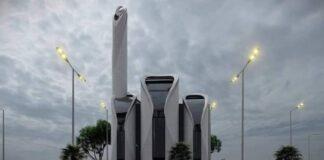 Die geplante Khalil al-Wazir-Moschee im Gazastreifen. Foto Screenshot Youtube