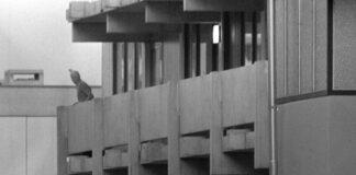 Geiselnahme israelischer Sportler am Rande der Olympischen Spiele 1972 in München - Ein maskierter palästinensischer Terrorist der Gruppe Schwarzer September auf dem Balkon der israelischen Unterkünfte in der Connollystraße 31. Foto IMAGO / Sven Simon