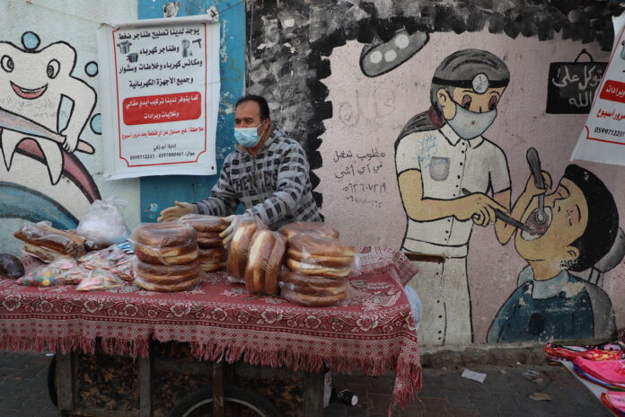 Graffiti in den Strassen des Gazastreifens. Gaza, 25. Januar 2021. Foto Majdi Fathi/TPS