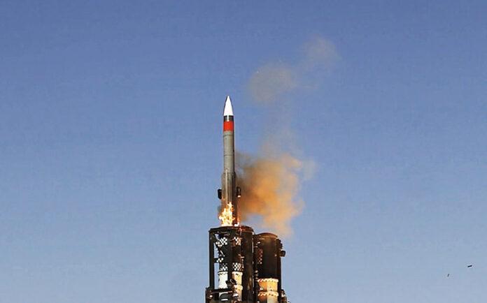 Start der Barak ER im Testbetrieb. Foto ISRAEL AEROSPACE INDUSTRIES