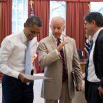 "Barack Hussein Obama und Joseph ""Joe"" Robinette Biden. Foto IMAGO / ZUMA Wire"
