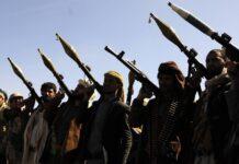 Huthi-Kämpfer in Sanaa. Foto IMAGO / Xinhua