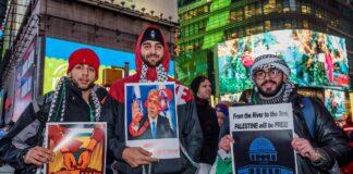 Kundgebung gegen Trumps Entscheidung über Jerusalem am 8. Dezember 2017. Foto IMAGO / Pacific Press Agency