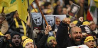 Hisbollah Unterstützer während einer Kundgebung für Qassem Soleimani in südlichen Vororten von Beirut, Libanon, am 5. Januar 2020. Foto IMAGO / Xinhua