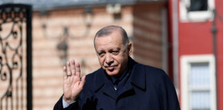 Präsident Recep Tayyip Erdogan in Istanbul am 26. Februar 2021. Foto IMAGO / Xinhua