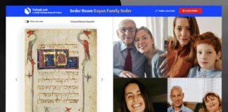 Pessachfeier mit einem virtuellen Seder. Foto Yahad.net