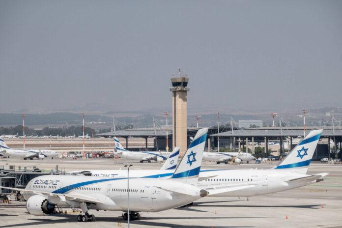 Flugzeuge der El Al Airlines während der Coronavirus-Krise auf dem internationalen Flughafen Ben Gurion in Tel Aviv. Foto IMAGO / ZUMA Wire