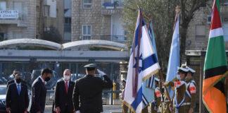 01.03.2021, Mohamed Mahmoud Fateh Ali Al Khaja der erste und neu ernannte Botschafter der Vereinigten Arabischen Emirate in Israel, wird in der Residenz des israelischen Präsidenten mit einer militärischen Ehrengarde der IDF begrüsst. Foto IMAGO / ZUMA Wire