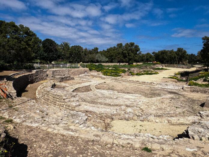 2.000 Jahre alte Basilika in Ashkelon freigelegt. Foto Yaniv Cohen/Nature and Parks Authority