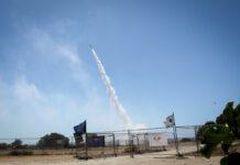 Das Iron-Dome-Raketenabwehrsystem in der südisraelischen Stadt Ashkelon. 19. Mai 2021. Foto Olivier Fitoussi/Flash90