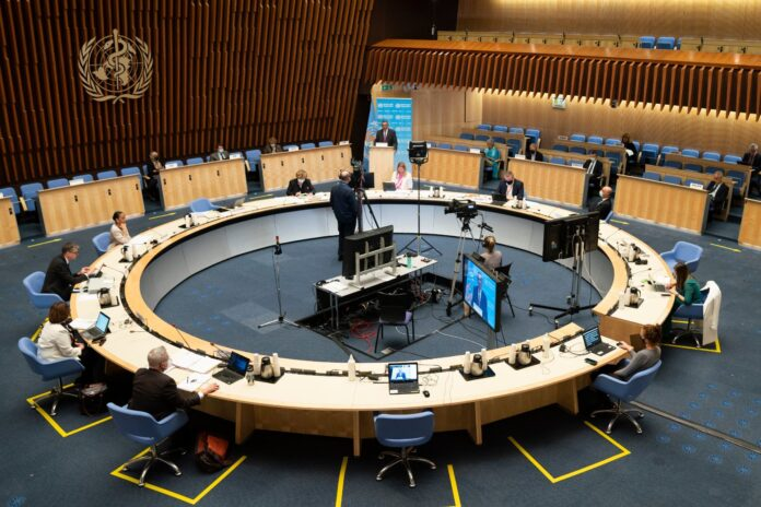 Executive Board Room im WHO-Hauptquartier, Genf. Foto ©WHO