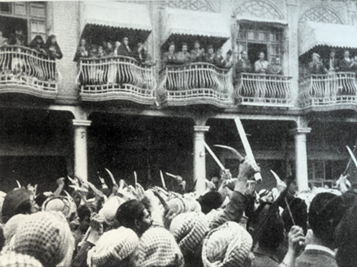 Das Farhud-Progrom in Bagdad 1941. Foto Beit Hatfutsot, the Oster Visual Documentation Center, courtesy of The Otniel Margalit Collection, Yad Yitzhak Ben Zvi Archive