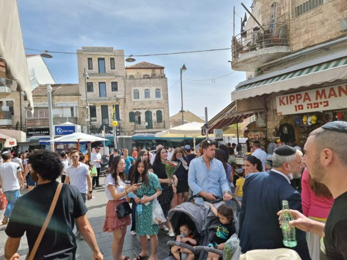 Der Mahane Yehuda Markt (Shuk) in Jerusalem. Foto TPS