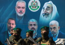 Hamas-Kundgebung in Gaza-Stadt nach der Waffenruhe zwischen Gaza und Israel am 24. Mai 2021. Foto Majdi Fathi/TPS