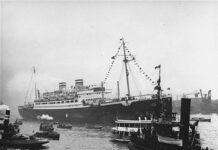 Die St. Louis im Hafen von Hamburg. Foto Gemeinfrei, https://commons.wikimedia.org/w/index.php?curid=509018