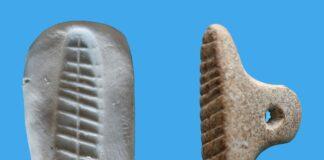 7.000 Jahre alter Siegelabdruck in Tel Tsaf, Nordisrael gefunden. Foto Vladimir Nichen