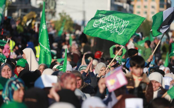 Hamas-Flagge. Foto IMAGO / ZUMA Wire