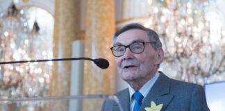Marian Turski am 75. Jahrestag des Warschauer Ghettos am 19. April 2018. Foto IMAGO / Eastnews
