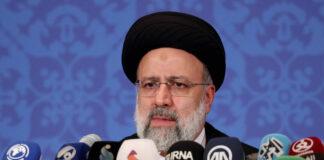 Irans neu gewählter Präsident Ebrahim Raisi spricht während einer Pressekonferenz in Teheran, Iran, Montag, 21. Juni 2021. Foto IMAGO / UPI Photo